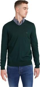 Zielony sweter Hugo Boss z wełny w stylu casual
