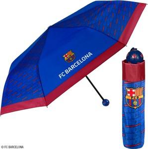 Niebieski parasol PERLETTI ze skóry ekologicznej w stylu casual