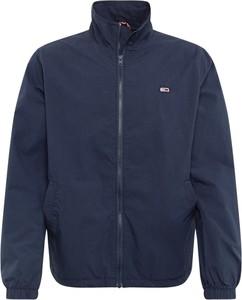 Niebieska kurtka Tommy Jeans z tkaniny