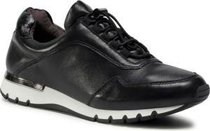 Czarne buty sportowe eobuwie.pl z płaską podeszwą sznurowane