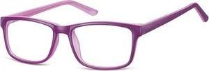 Stylion Okulary Zerówki klasyczne oprawki Sunoptic CP155E fioletowe