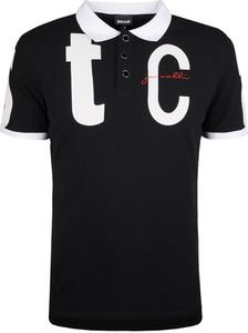 Czarna koszulka polo Just Cavalli z bawełny