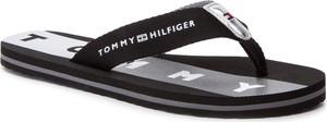 Klapki Tommy Hilfiger ze skóry ekologicznej z płaską podeszwą