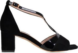 Sandały lizard-shoes.com z klamrami na obcasie