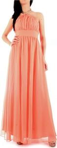Pomarańczowa sukienka Guess maxi