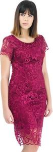 Różowa sukienka Risca ołówkowa
