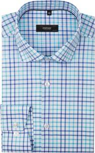 Błękitna koszula mmer z długim rękawem z bawełny