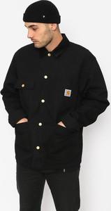 Czarna kurtka Carhartt WIP w stylu casual z bawełny