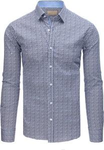 Niebieska koszula Dstreet z kołnierzykiem button down z długim rękawem