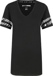 Czarny t-shirt Dkny Sport z krótkim rękawem w młodzieżowym stylu