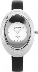 ZEGAREK DAMSKI GINO ROSSI - 6666A pearl/silver/black Czarny | Srebrny