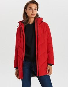 Czerwony płaszcz Cropp w stylu casual