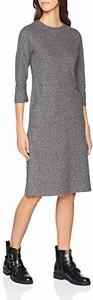 Sukienka amazon.de z długim rękawem z okrągłym dekoltem midi