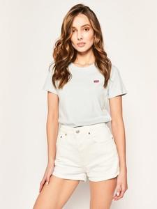 T-shirt Levis w stylu casual z okrągłym dekoltem