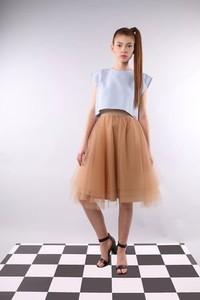 f83cd6c6 długa spódnica tiulowa - stylowo i modnie z Allani