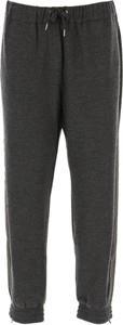 Czarne spodnie Brunello Cucinelli z kaszmiru w sportowym stylu