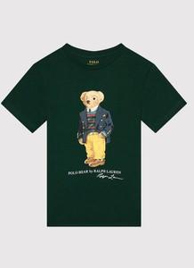Zielona koszulka dziecięca POLO RALPH LAUREN dla chłopców