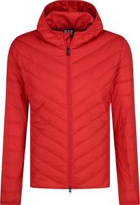 Czerwona kurtka EA7 Emporio Armani w stylu casual