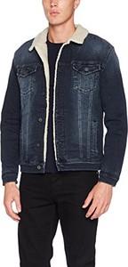 Niebieska kurtka amazon.de z jeansu