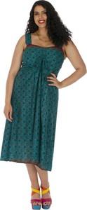 Sukienka Aller Simplement na ramiączkach midi z bawełny