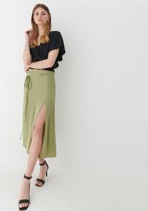 Zielona spódnica Mohito midi