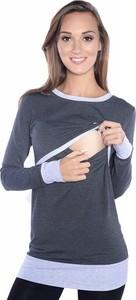Granatowa bluzka Inne z bawełny