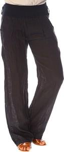 Czarne spodnie La Fabrique Du Lin z lnu