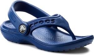 Niebieskie buty dziecięce letnie crocs z gumy bez wzorów