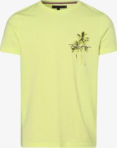 Żółty t-shirt Tommy Hilfiger z bawełny w młodzieżowym stylu z krótkim rękawem