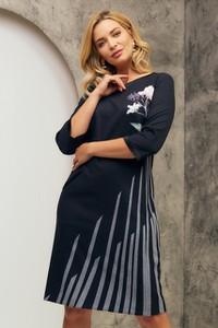 Sukienka Risca z długim rękawem z tkaniny
