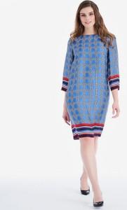 Sukienka POTIS & VERSO midi z tkaniny z długim rękawem