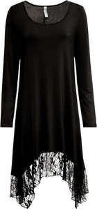 Czarna sukienka bonprix z okrągłym dekoltem mini