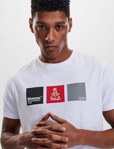 T-shirt DiverseExtreme z bawełny z krótkim rękawem w młodzieżowym stylu
