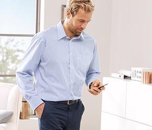 Niebieska koszula Tchibo w stylu casual z długim rękawem