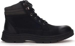 Buty zimowe American Club ze skóry sznurowane