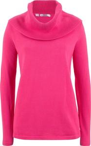 Różowy sweter bonprix bpc bonprix collection z bawełny