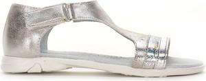 Buty dziecięce letnie Kornecki dla dziewczynek ze skóry na rzepy