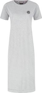 Sukienka Napapijri z okrągłym dekoltem midi w stylu casual