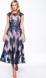 Sukienka POTIS & VERSO gorsetowa z okrągłym dekoltem