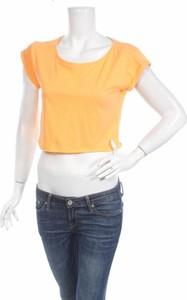 Żółta bluzka Moodo z krótkim rękawem