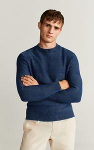 Niebieski sweter Mango Man w stylu casual