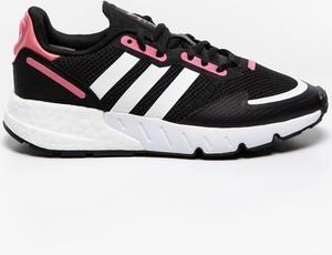 Czarne buty sportowe Adidas sznurowane z zamszu