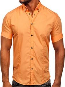 Pomarańczowa koszula Denley w stylu casual