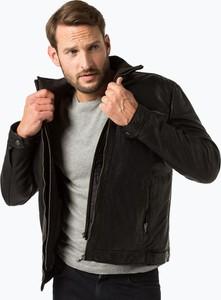 Czarna kurtka Van Graaf ze skóry w stylu casual