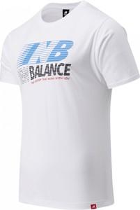 T-shirt New Balance z nadrukiem z krótkim rękawem