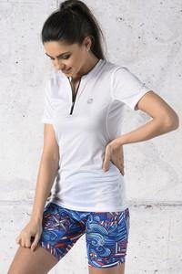 T-shirt Nessi Sportswear z okrągłym dekoltem z krótkim rękawem z tkaniny