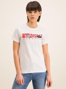 T-shirt Diesel z okrągłym dekoltem w młodzieżowym stylu