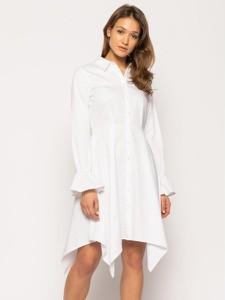 Sukienka Silvian Heach asymetryczna z długim rękawem