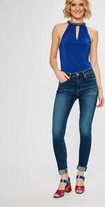 Niebieskie jeansy Pepe Jeans z bawełny
