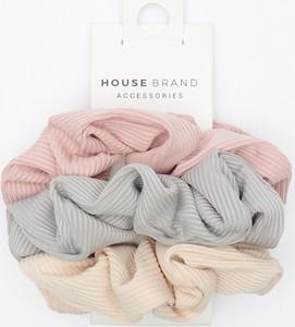 House - Gumki do włosów scrunchies 3-pak - Wielobarwny